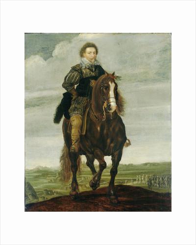 Portrait of Prince Frederick Henry on horseback by Pauwels van Hillegaert