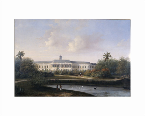 Rear View of Buitenzorg Palace before the Earthquake of 10 October 1834, Kota Bogor Java Indonesia by Willem Troost II