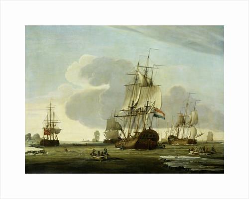 The Groenlandvaarder Zaandam of the Shipping Company Claes Taan and Son, Zaandam, on a Whale Hunt by Jochem de Vries