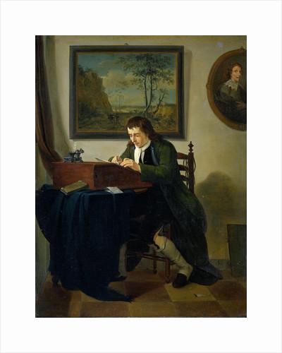 A Man Writing at his Desk by Jan Ekels II