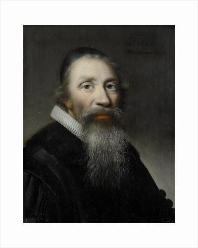Portrait of a man, probably a clergyman by Anthonie Palamedesz.