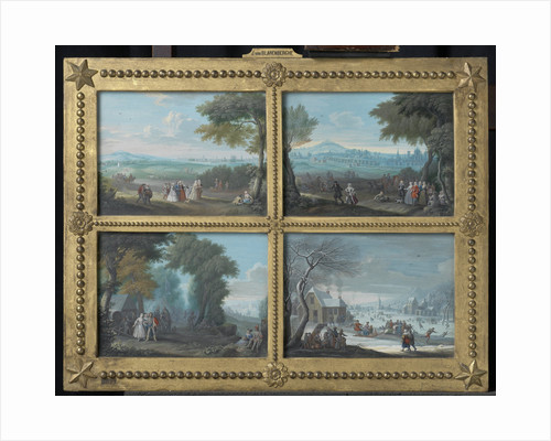 Four Landscapes Representing the Four Seasons, Jacques-Guillaume van Blarenberghe, Louis Nicolas van Blarenberghe by Anonymous