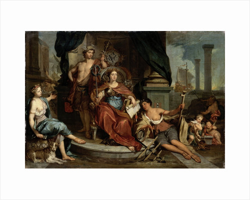 Apotheosis of the Dutch East India Company, Allegory of the Amsterdam Chamber of Commerce of the VOC by Nicolaas Verkolje