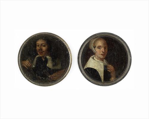 Self Portrait of Johann Philip Lembke and a portrait of his wife by Johann Philipp Lemke