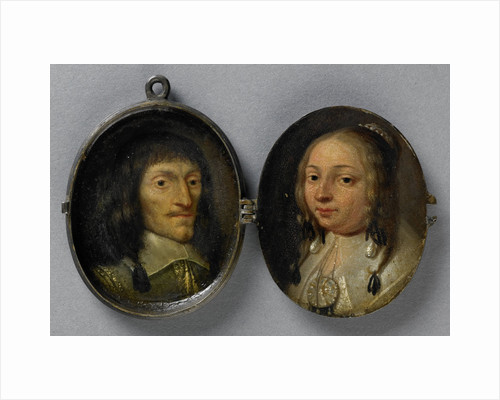 Portrait of a man and a woman by Anonymous