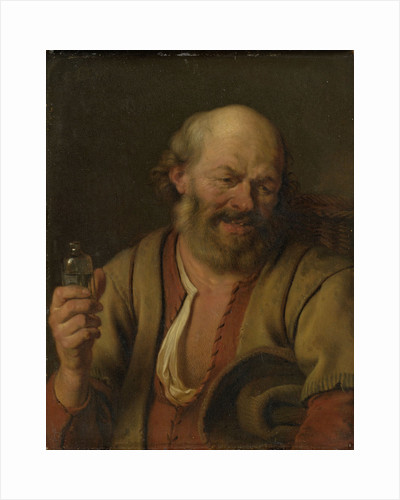A Man with a little drink Bottle by Ary de Vois