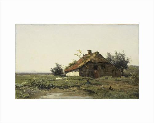 Farmhouse in open field by Paul Joseph Constantin Gabriël