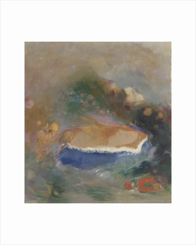Ophélie, la cape bleue sur les eaux by Odilon Redon