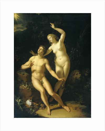 God Holds Adam and Eve Responsible by Adriaen van der Werff