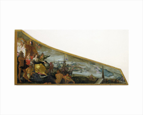Harpsichord Lid showing an Allegory of Amsterdam as the Center of World Trade by Firma Ruckers