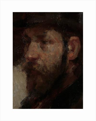 Portrait of the art dealer E.J. van Wisselingh, 1848-1912 by Marinus van der Maarel