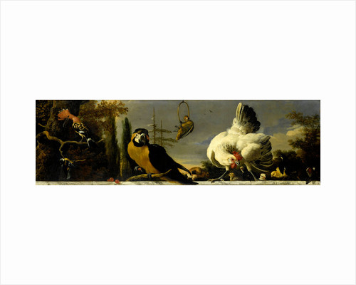 Birds on a Balustrade by Melchior d' Hondecoeter