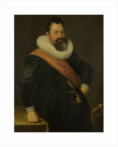 Portrait of Jochem Hendricksz. Swartenhont, Lieutenant-Admiral of Holland, Husband of Elisabeth Bas by Nicolaes Eliasz. Pickenoy