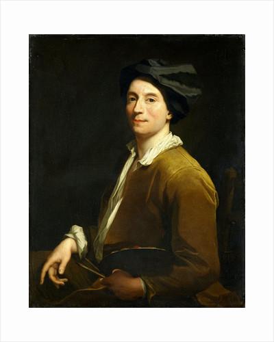 Portrait of a Painter, probably a Self Portrait by Christoffel Lubienitzki