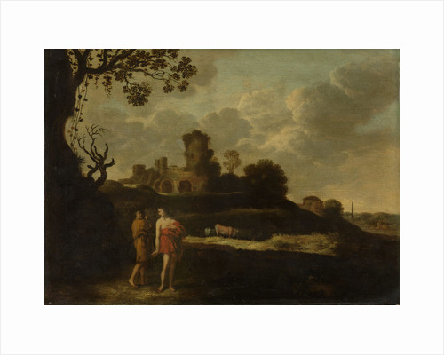 Arcadian Landscape with Shepherds and Cows by Dirck Dalens I