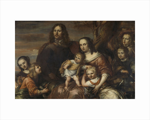 A couple with six children by Jürgen Ovens
