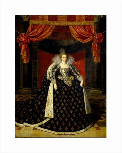 Marie de Medicis, Consort of Henry IV, King of France by Workshop of Frans Pourbus II