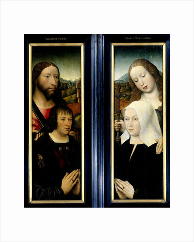 Two Wings of a Triptych with the Donor, Thomas Isaacq by Master of the Magdalen Legend