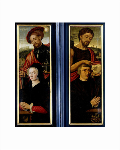 Two Wings of a Triptych with Portraits of Donors with Saints Adrian and John the Baptist by Pieter Pourbus