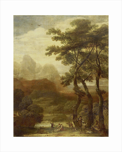 Landscape with Hunters by Ignacio de Iriarte