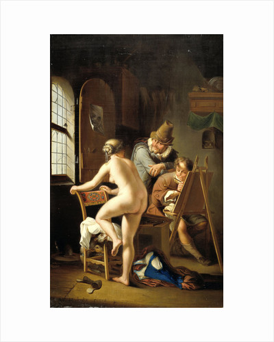 The Painter and his Model by Arnold Houbraken