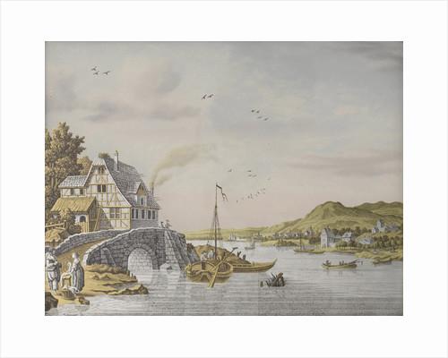 Houses along a River by Jonas Zeuner