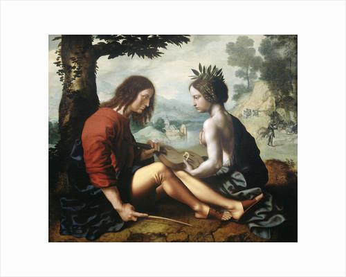 Allegory, Nature as the Nursemaid of Art by Jan van Hemessen