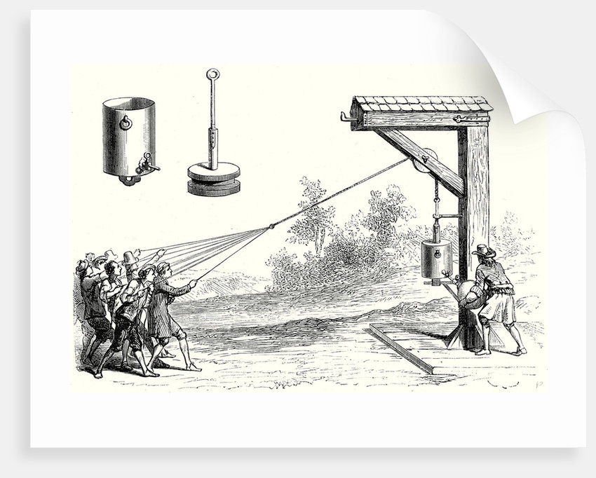 Experiments Made by Otto Von Guericke in 1654 in Front of the Prince of Auerberg by Anonymous