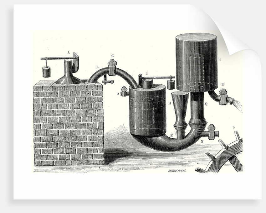 Denis Papin's Second Steam Engine by Anonymous