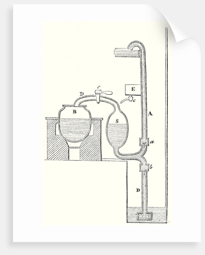 Cross Section of the Steam Engine of Savery by Anonymous