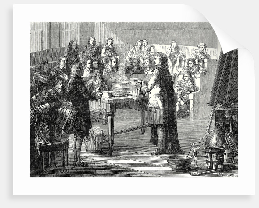 Joseph Black Conducts the Experiment of Caloric Latent Before Students of the University of Glasgow by Anonymous