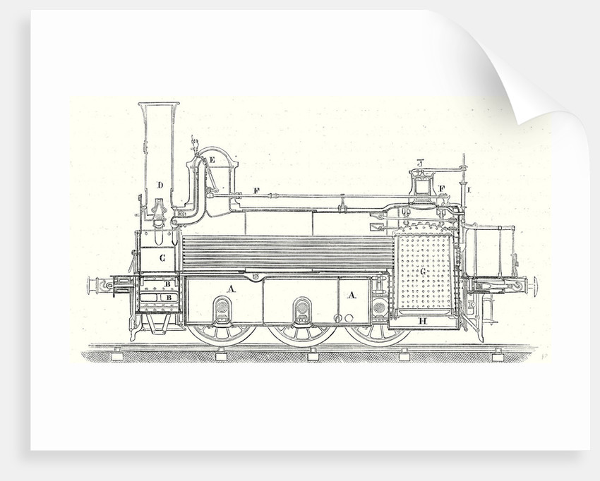 Cross Section of the Locomotive that is Used at Saint-Germain by Anonymous