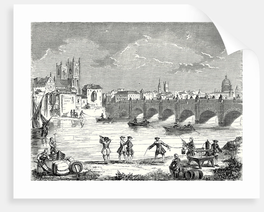 Experiment Conducted in 1747 on the Thames by Martin Folcker Cavendish and Bevis Near London Bridge to Measure the Speed of Electricity by Anonymous