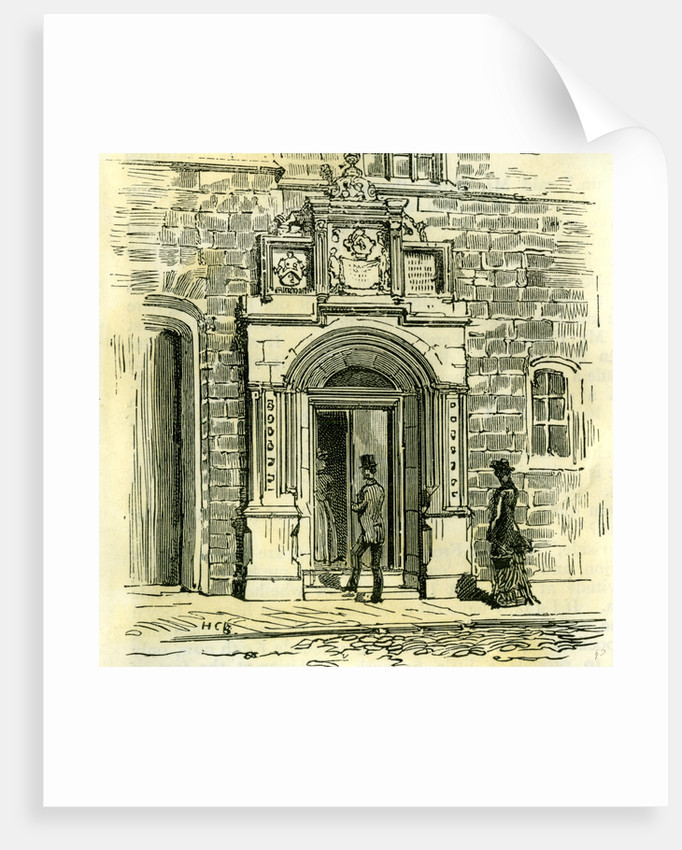 Aberdeen Old Gateway of Trinity Friars 1885 UK by Anonymous