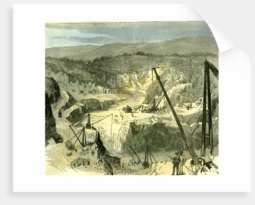 Aberdeen 1885 UK Rubislaw Granite Quarries from Where Granite is Used to Build London Bridge by Anonymous