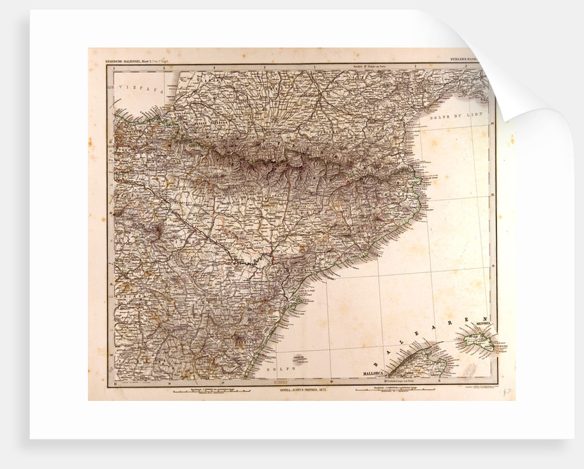 Map Of Spain And France Together.Spain France Pyrenees Map 1872 Posters Prints By Anonymous