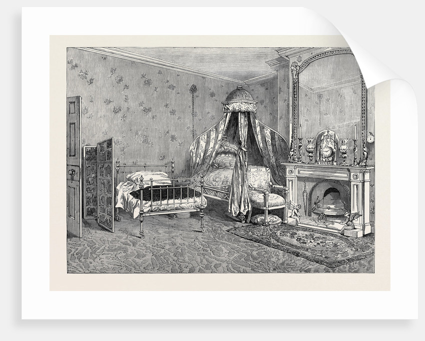 The Late Emperor Napoleon III: Room Where the Emperor Died Chiselhurst 1873 by Anonymous