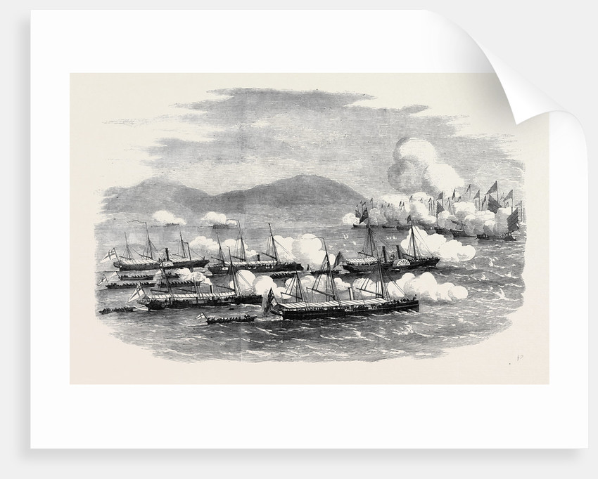 The War in China the Battle of Escape Creek: Commodore Elliot Leading Gun Boats to the Attack of Mandarin Junks in Escape Creek May 25 1857 by Anonymous