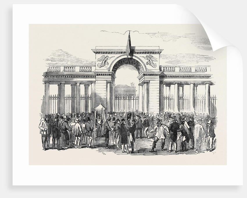 Distribution of the St. Helena Medal to the Old Soldiers of the Empire at Paris by Anonymous