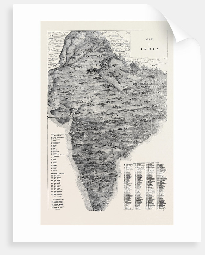 Map of India by Anonymous