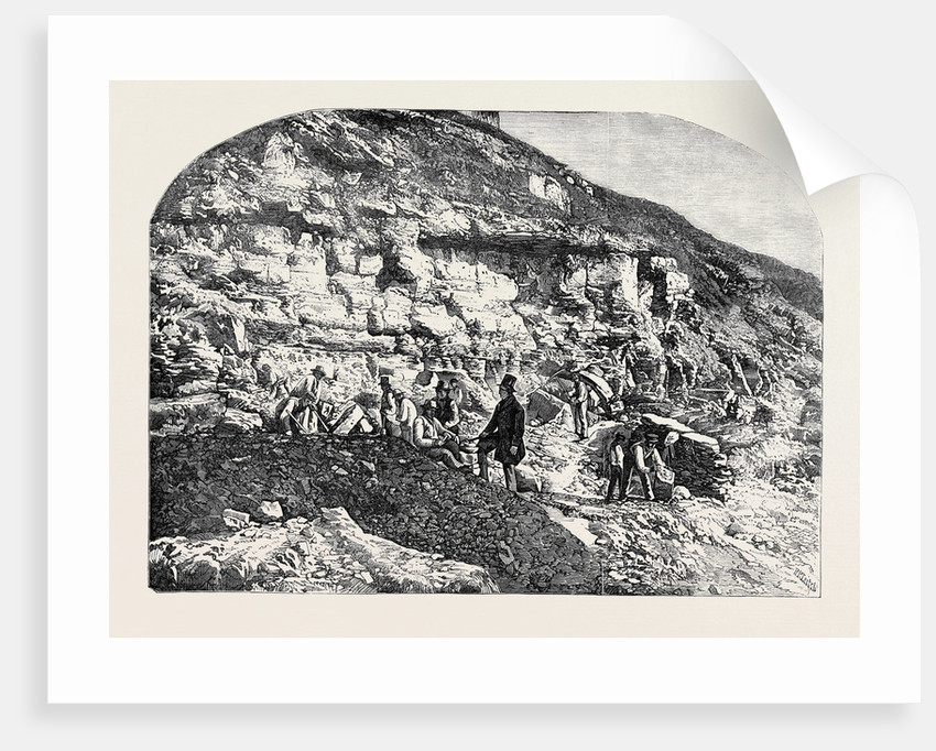 Scene of the Geological Discoveries at Swanage Dorset by Anonymous