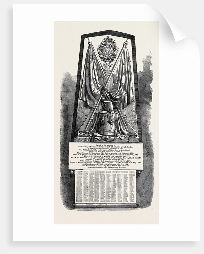 Monument to Officers and Privates of the 49th (Hertfordshire) Regiment Who Fell in the Crimean War by Anonymous