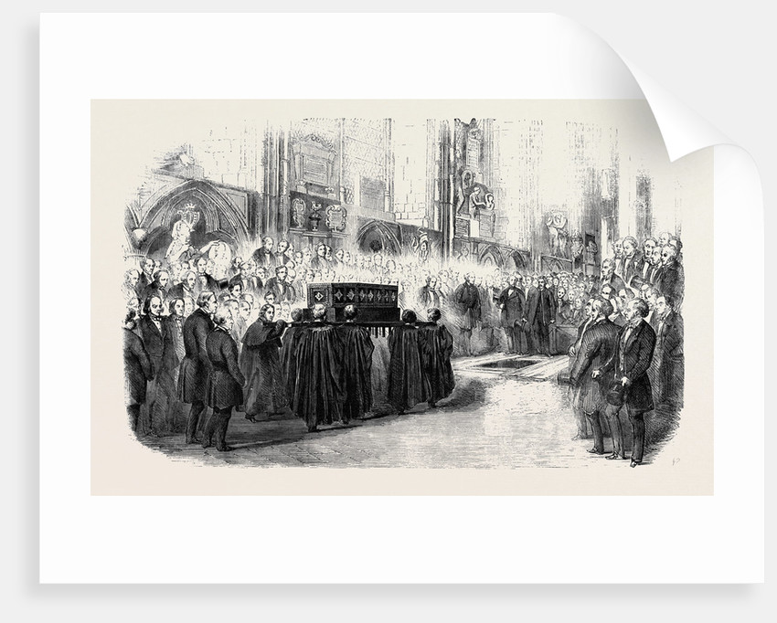 Reinterment of John Hunter's Remains in Westminster Abbey by Anonymous