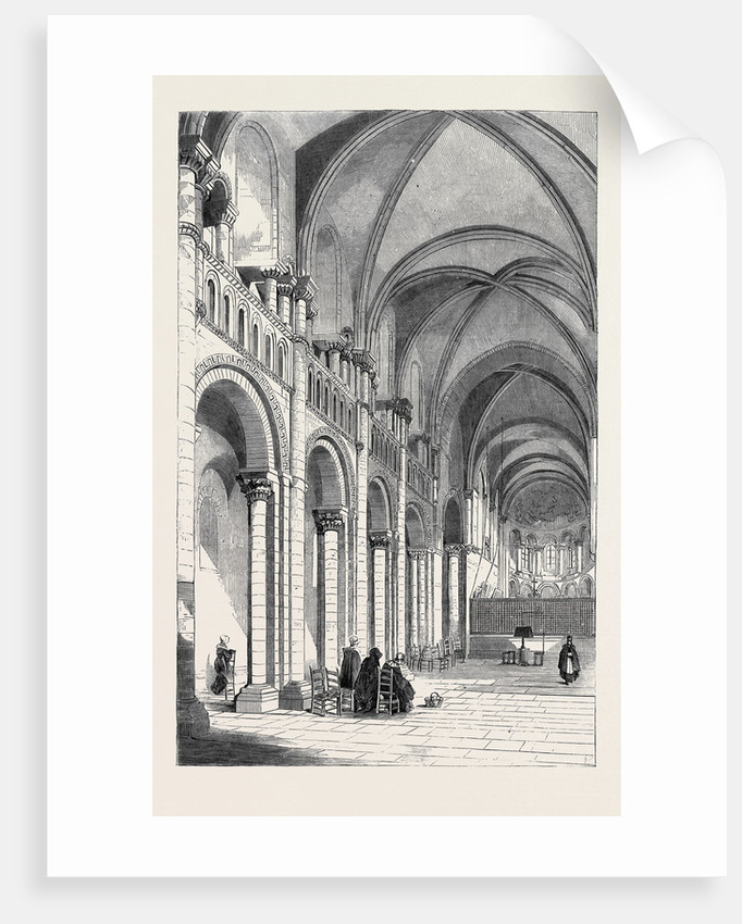 Queen Matilda's Church at Caen Normandy from a Sketch by G. Bouet by Anonymous