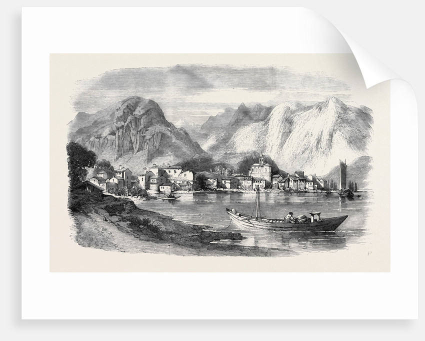 The War Feriolo on the Lago Maggiore from a Sketch by W.L. Leitch by Anonymous