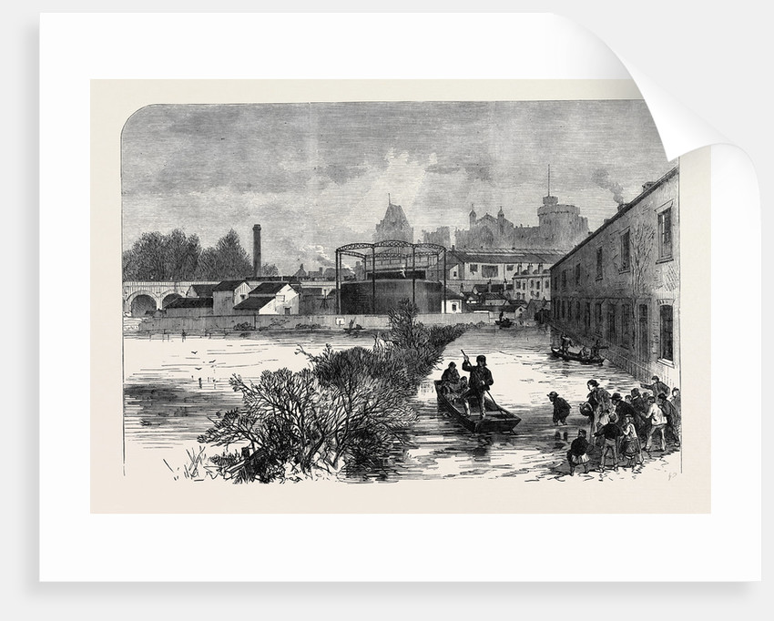 The Floods at Windsor UK 1869 by Anonymous