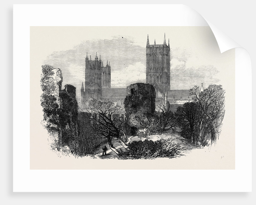 Ruins of the Bishop's Old Palace Lincoln 1869 UK by Anonymous