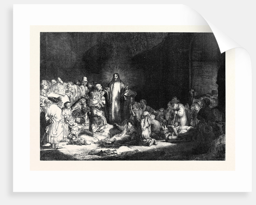 Rembrandt's Hundred Guilder Piece Christ Healing the Sick 1869 by Anonymous