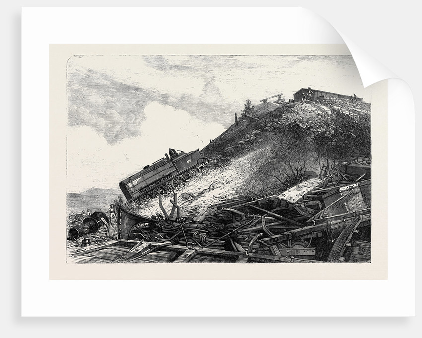 The Disaster on the Great Indian Peninsula Railway: Scene of the Accident 1869 by Anonymous