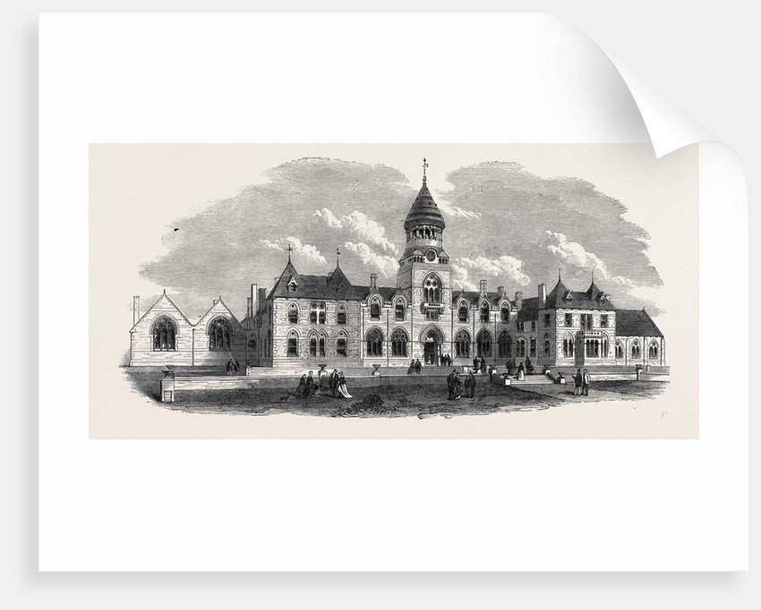 Wesleyan Methodist College Headingley Near Leeds UK 1869 by Anonymous